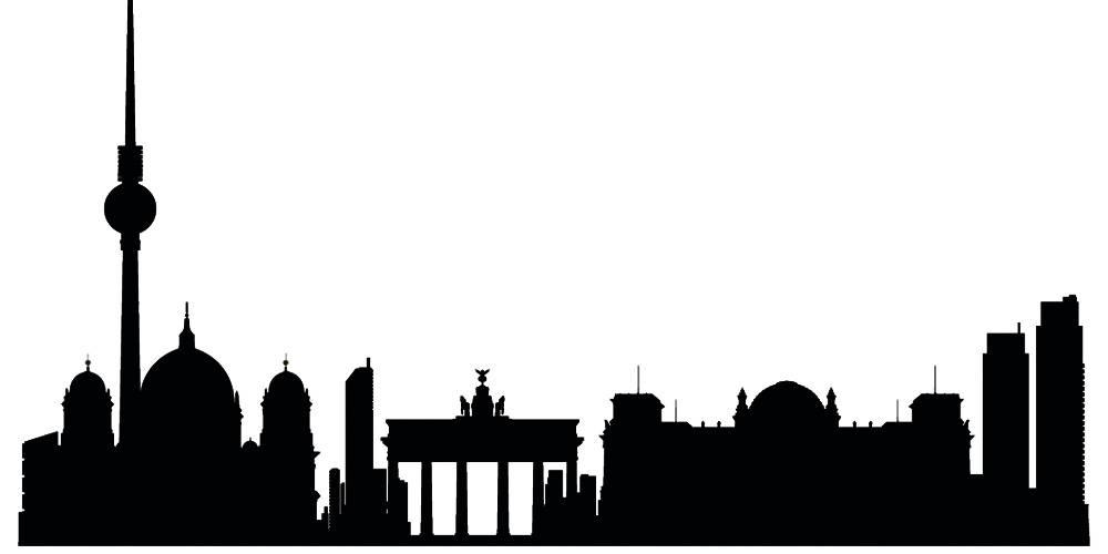Германия силуэты Берлин