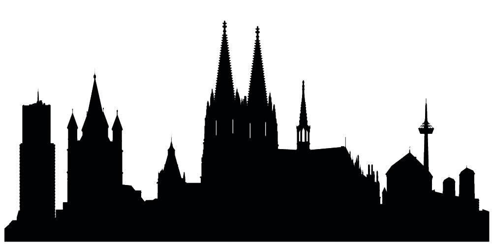 Германия силуэты Кологне
