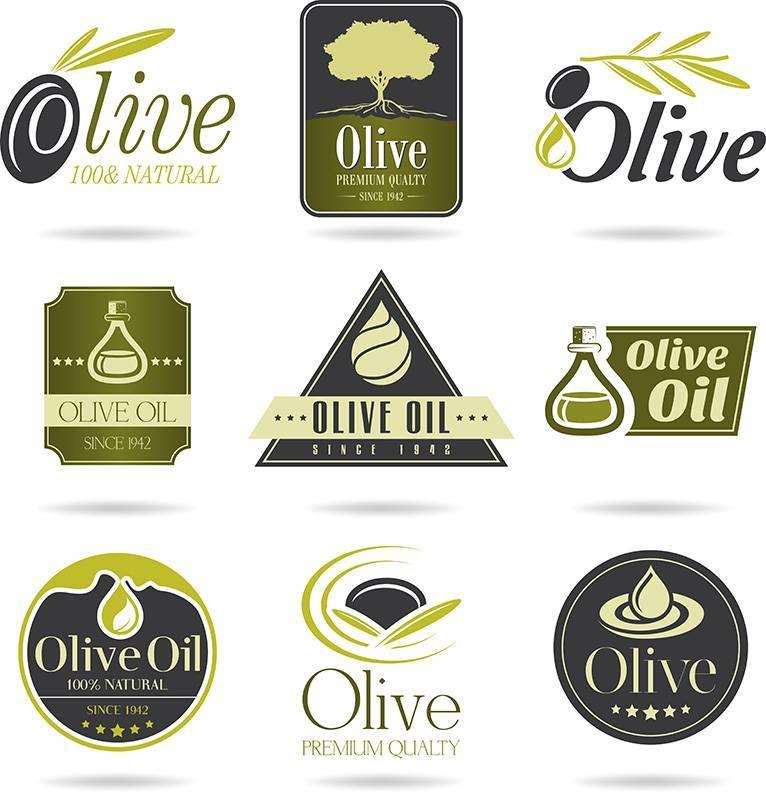 Набор для дизайна Оливки - Векторный клипарт
