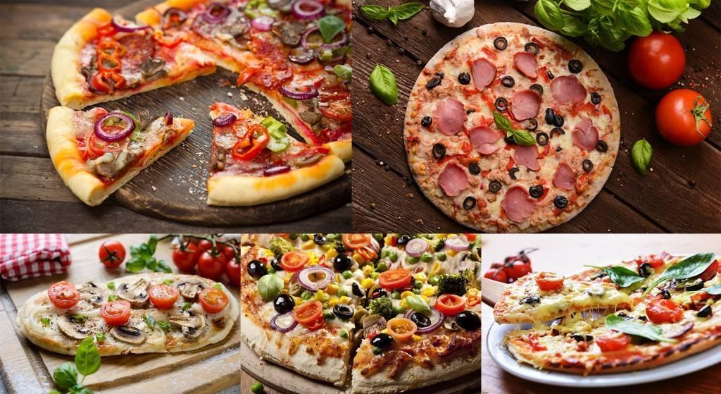 фото мясной пиццы на красивом фоне
