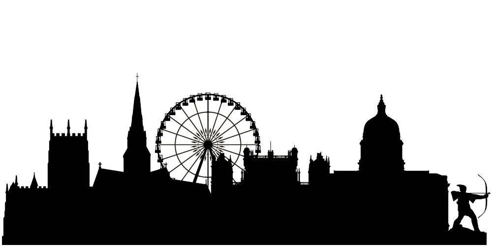 Силуэты городов Англии - Ноттингем