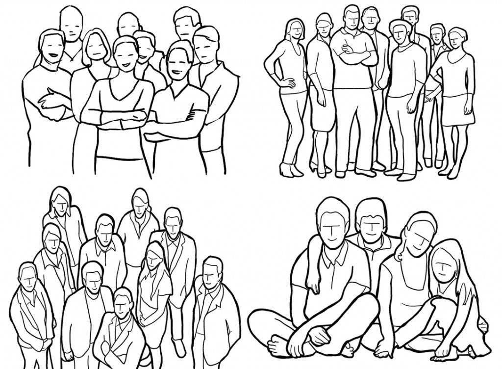 Как правильно делать групповые снимки, и фотографировать группы людей