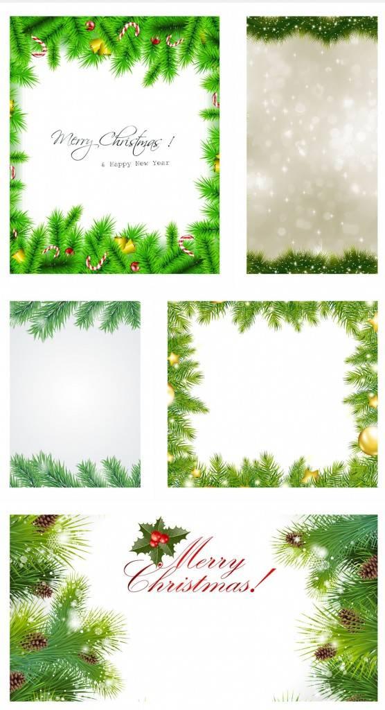 Новогодние фоны из Ёлочных веток и шишок