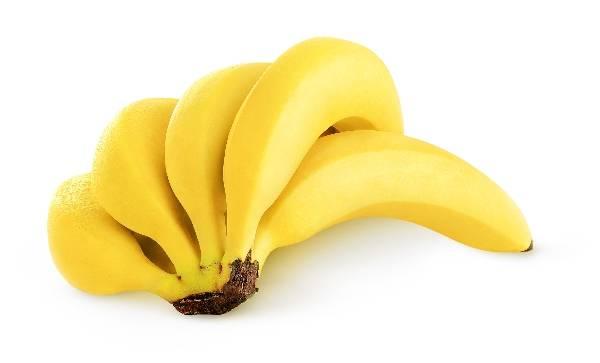 Фото - Банан на белом фоне
