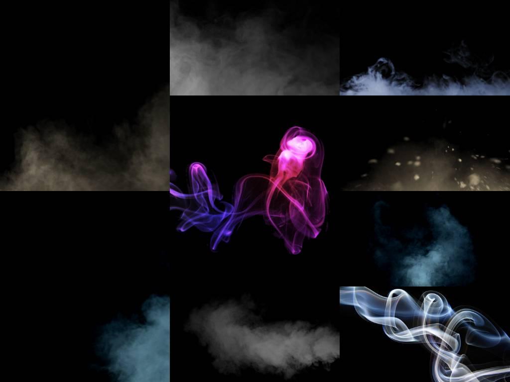 Набор Текстур Дыма 30шт. Растровый клипарт