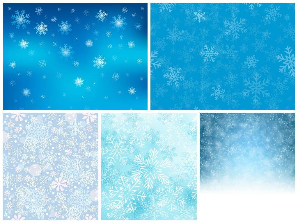 Новогодний фон из снежинок - Векторный клипарт