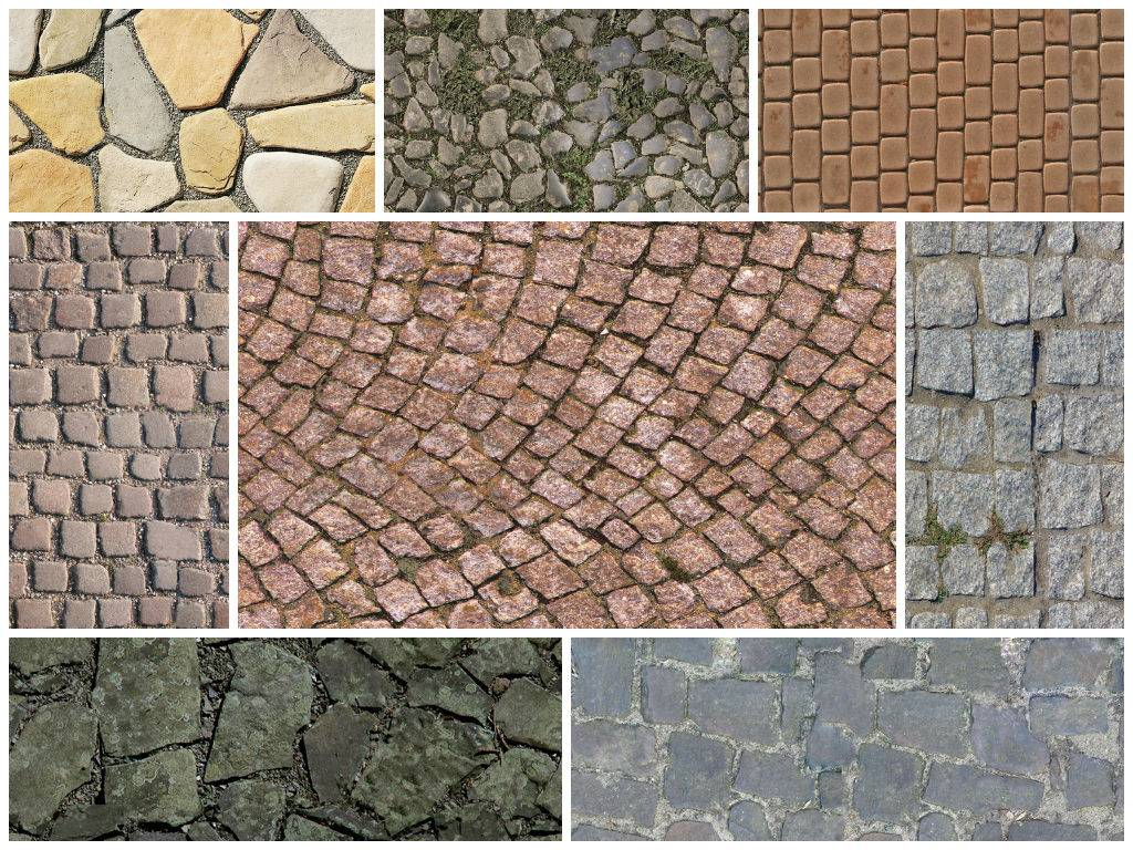 Текстуры брусчатки и дорожного камня