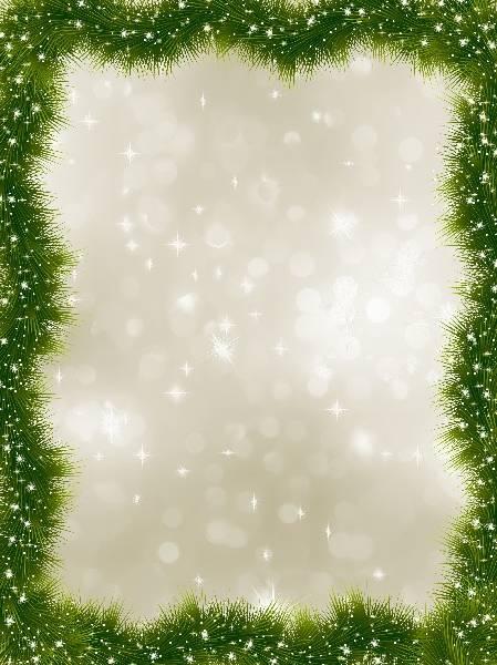 Новогодный векторный фон из елочных веток