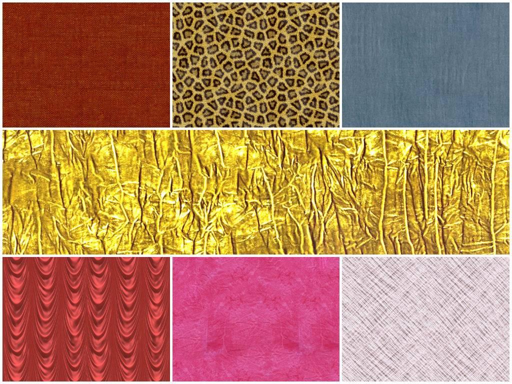 Текстура тканей различных
