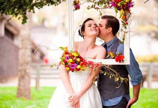 Креативная идея для свадебной фотосъемки