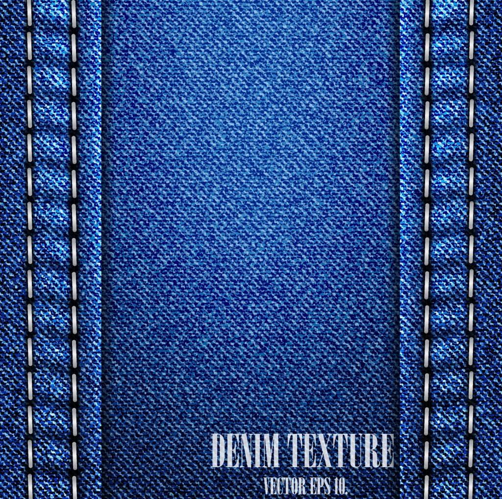 Текстура Джинсовой ткани Деним в векторе