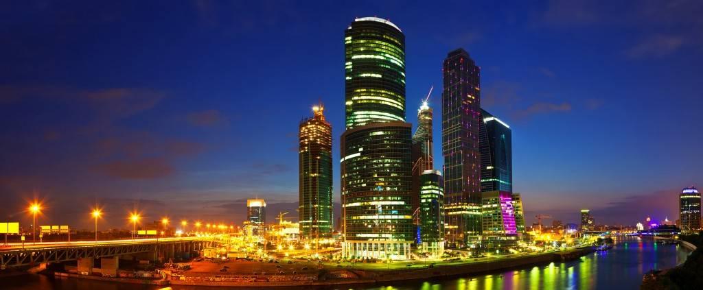 Пример фотографии на длинной выдержки ночного города