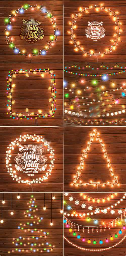 Рождественские огни - новогодняя елочная гирлянда