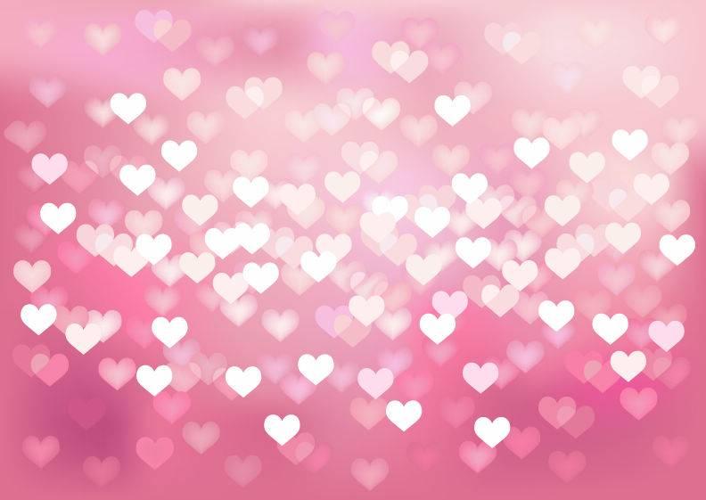 Фон из сердечек для фотошоп - боке в видео сердец