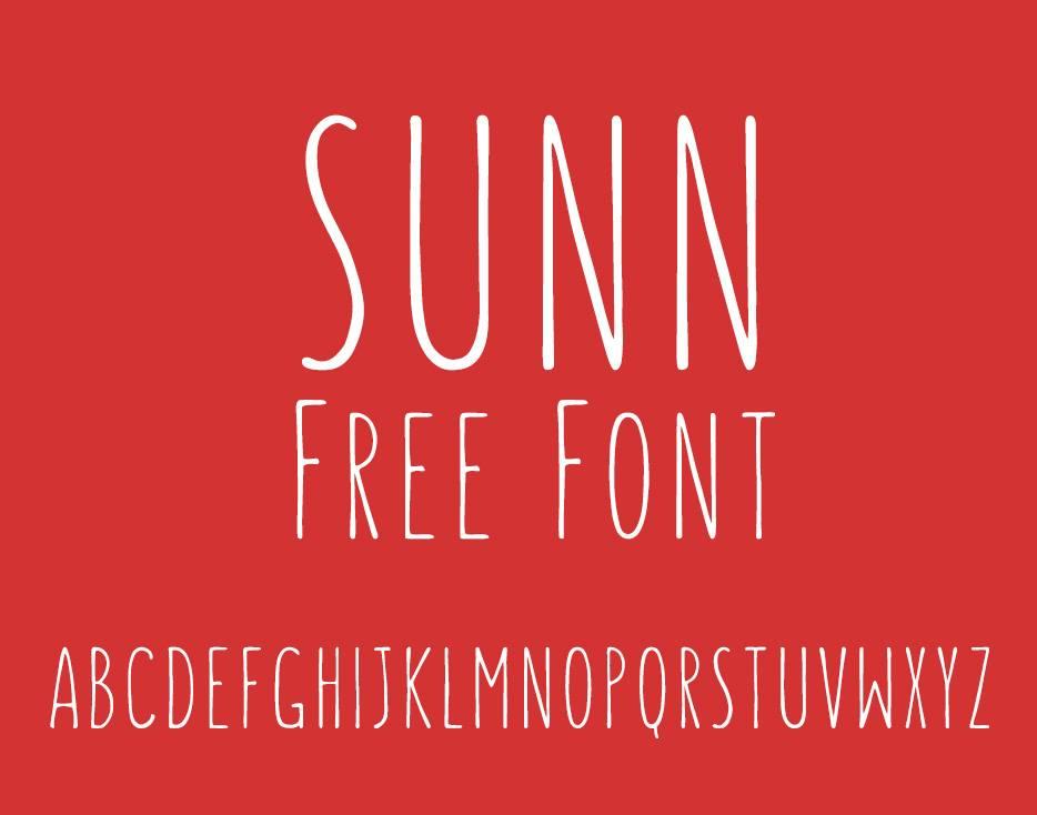 Шрифт для дизайна - SUNN free font