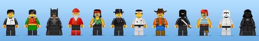 Векторные персонажи из лего