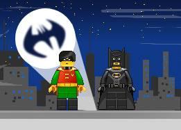 Сцена Векторных персонажей из лего - Бэтмен