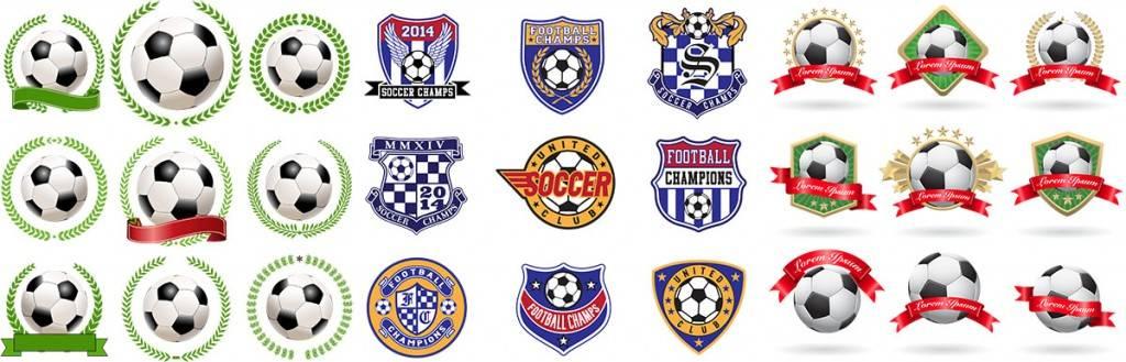 Логотипы футбольных команд в векторе - Векторный клипарт