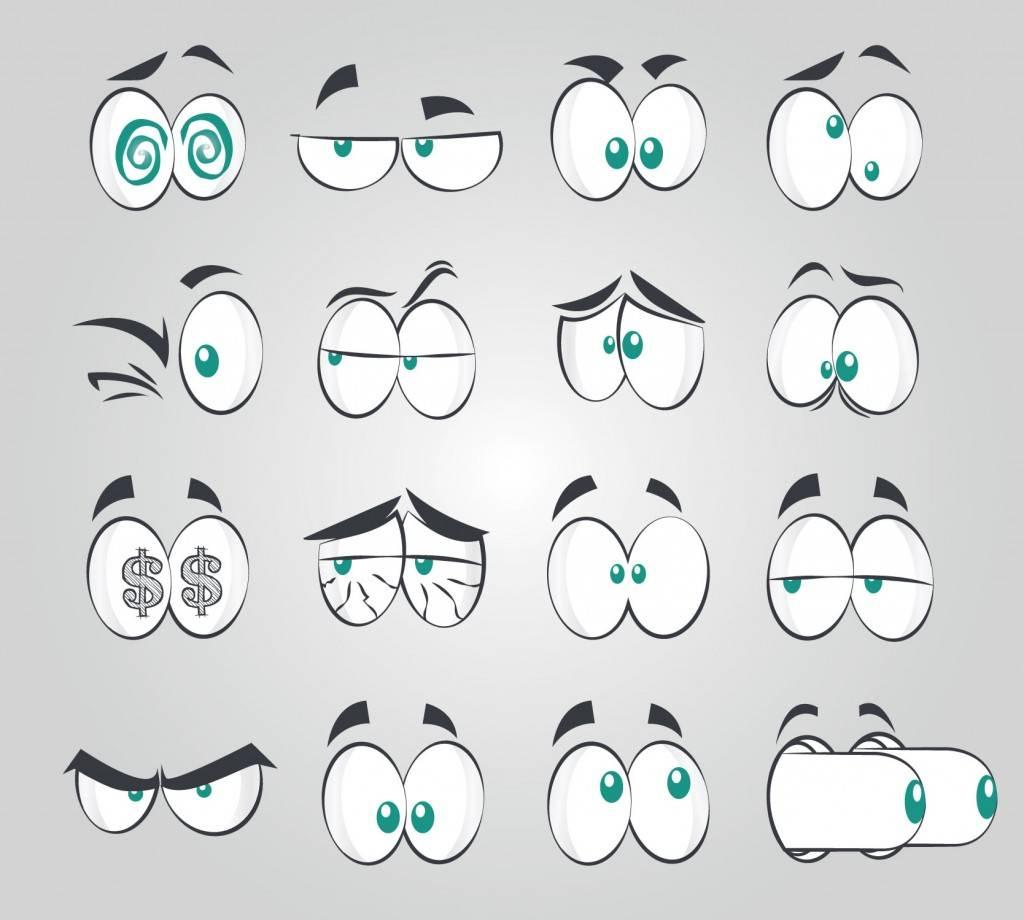 Глаза с разными эмоциями - векторный клипарт