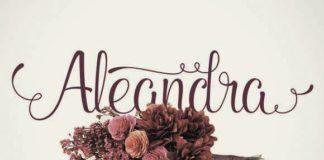 Декоративный Шрифт - Aleandra Script