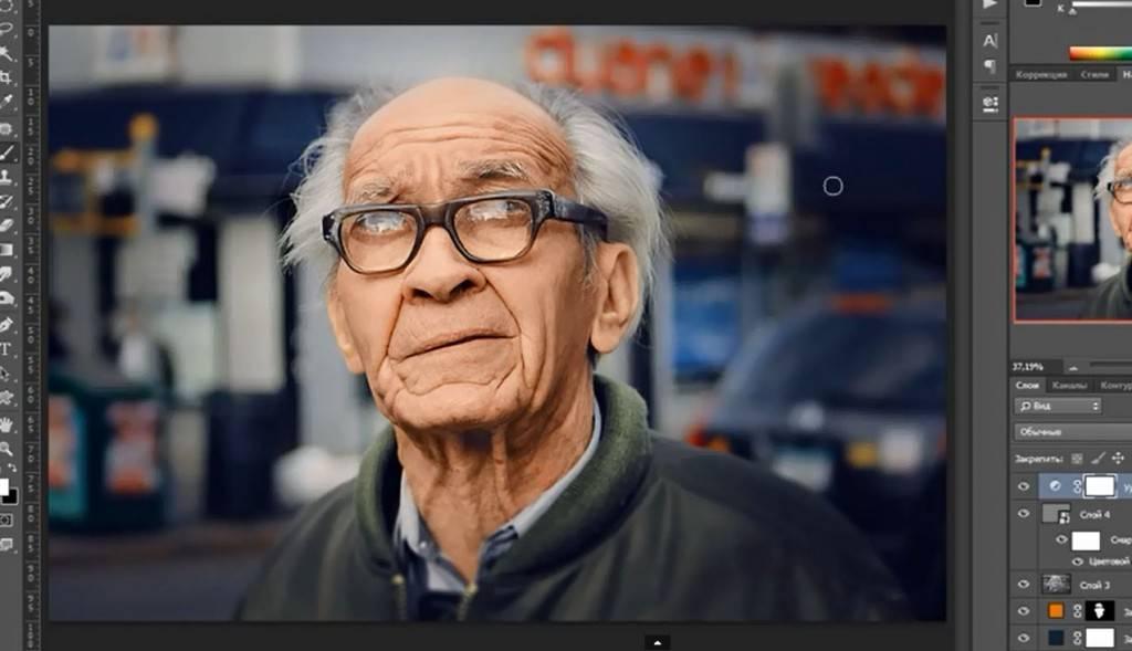 Видео урок Photoshop - Обработка уличного портрета