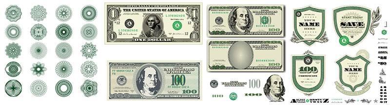 Дизайн векторных элементов доллара