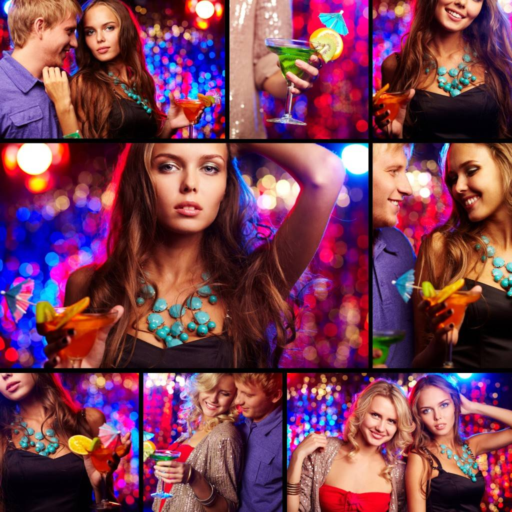 Набор клубных фотографий - Растровый клипарт