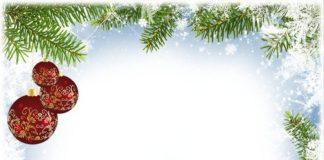 Рождественская рамка для фотошопа в формате psd