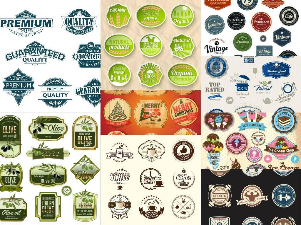 Большой набор логотипов на различные тематики в векторном формате