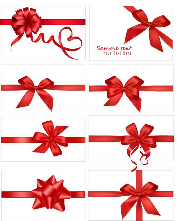 красные ленточки для подарков, и сертификатов на прозрачном фоне