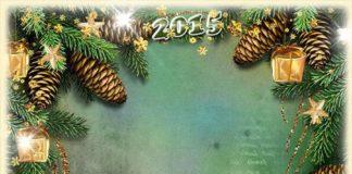 новогодняя рамка для фотошопа с украшениями