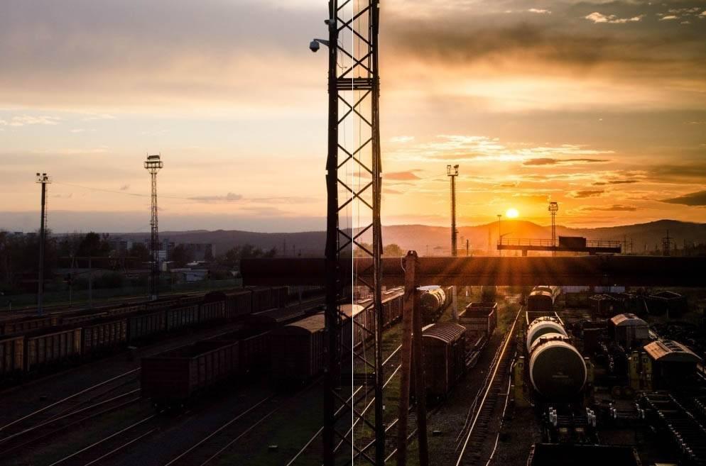 Пресет для лайтрум - закат на вокзале