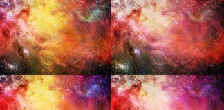 Набор космических геометрических текстур - Растровый клипарт
