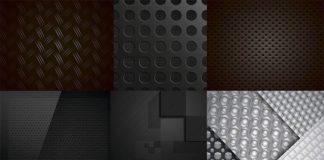 Текстуры углеродного волокна - векторный клипарт