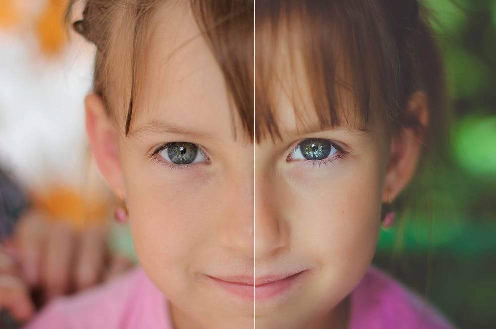 Детский портрет - пресет для лайтрум