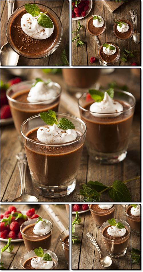 Шоколадные напитки (Горячий шоколад) - растровый клипарт