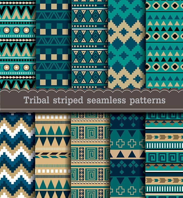 Tribal-striped-seamless-patterns