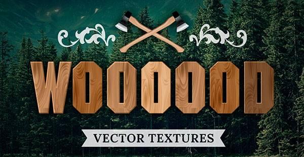 Векторный клипарт текстур - Клипарт деревянных текстур 14шт