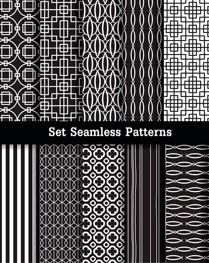 set-seamless-patterns-black-and-white