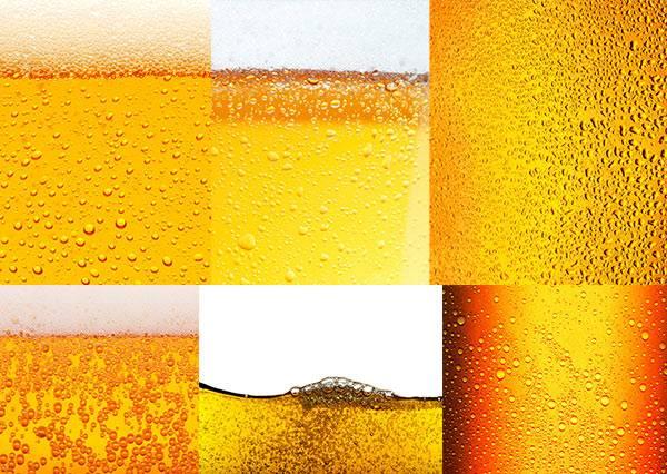 Растровый набор фотографий - Текстура пива
