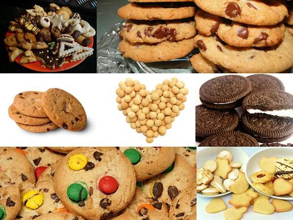 Набор фотографий печенья на белом фоне - растровый клипарт