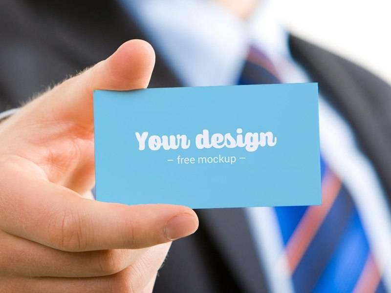 Бизнес мокап визитная карточка в руках - Business mocap business card in the hands