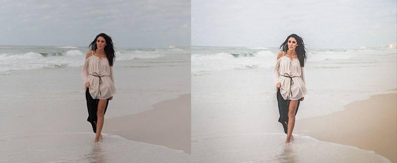 Светлый пляжный пресет для Lightroom - Bright beach preset for Lightroom до-после