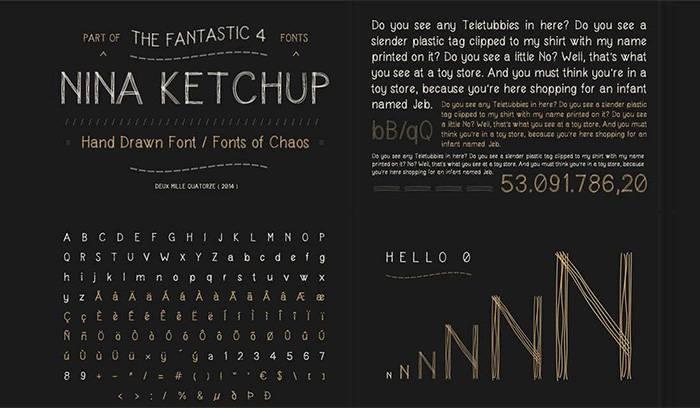 Красивый-чертежный-шрифт---Nina-Ketchup