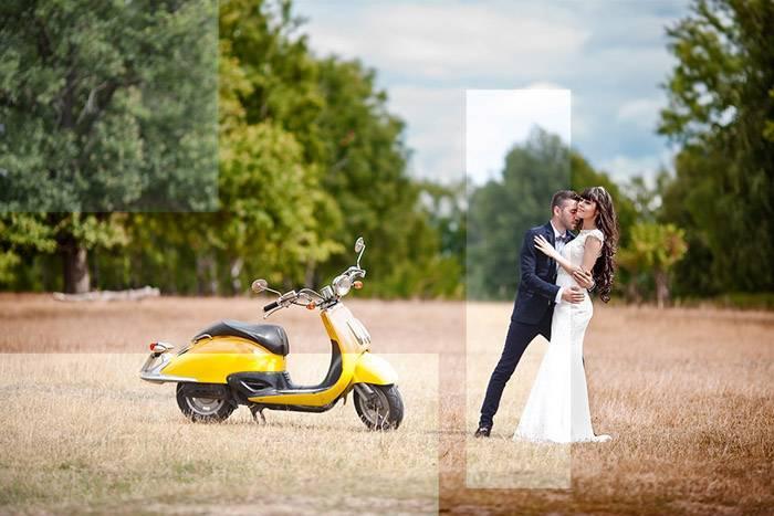 До после - Летний свадебный пресет для Lightroom