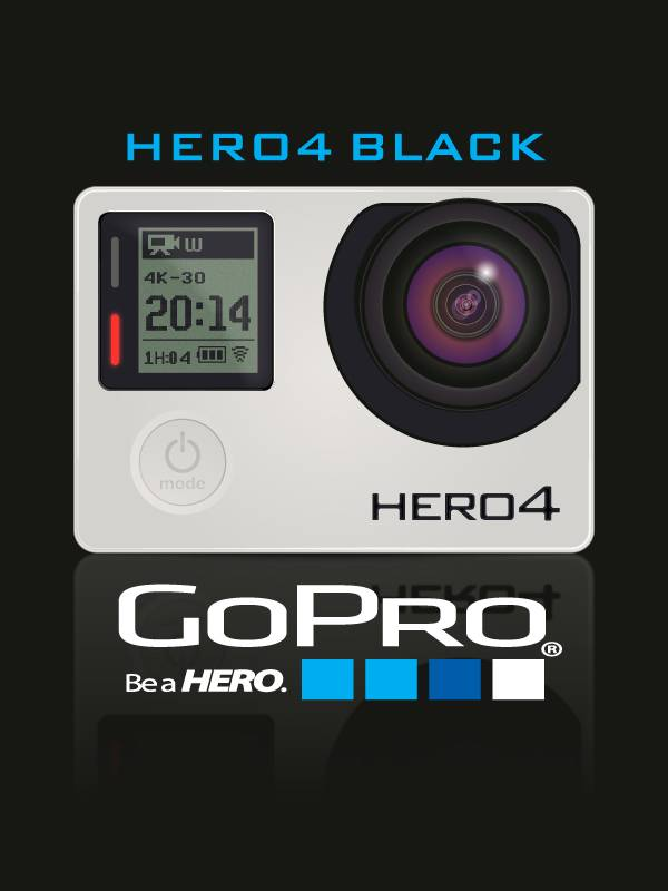 Векторный клипарт - GoPro-Hero-4-dark