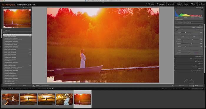 Видеоурок - обработка фотографии на закате в Lightroom 3