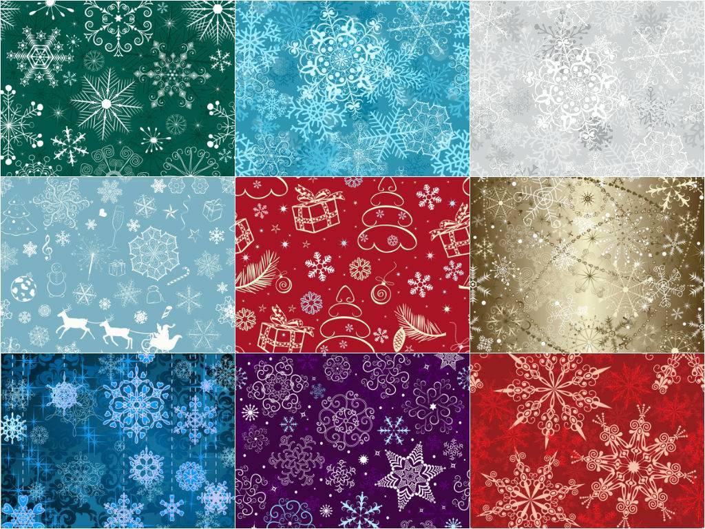Красивые новогодние векторные шаблоны - в узорном стиле