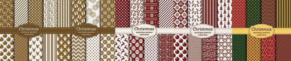 Новогодние векторные клипарты - Красивые классические фоны
