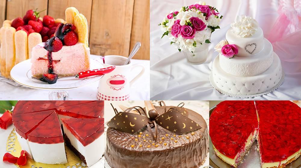 Растровый клипарт - подборка свадебных тортов 1